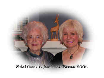 Photo of Ethel Crook and Jan Crook Pierson 2005