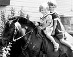 Carolyn and Judy on Shetland Pony-about 1938