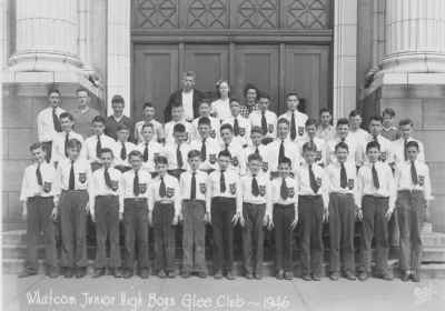 Whatcom Jr High Boys Glee Club 1946