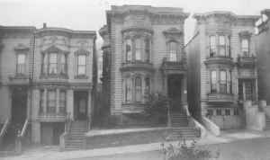 San Francicso apartment building where Grandpa Vorfeld lived. Taken around 1920